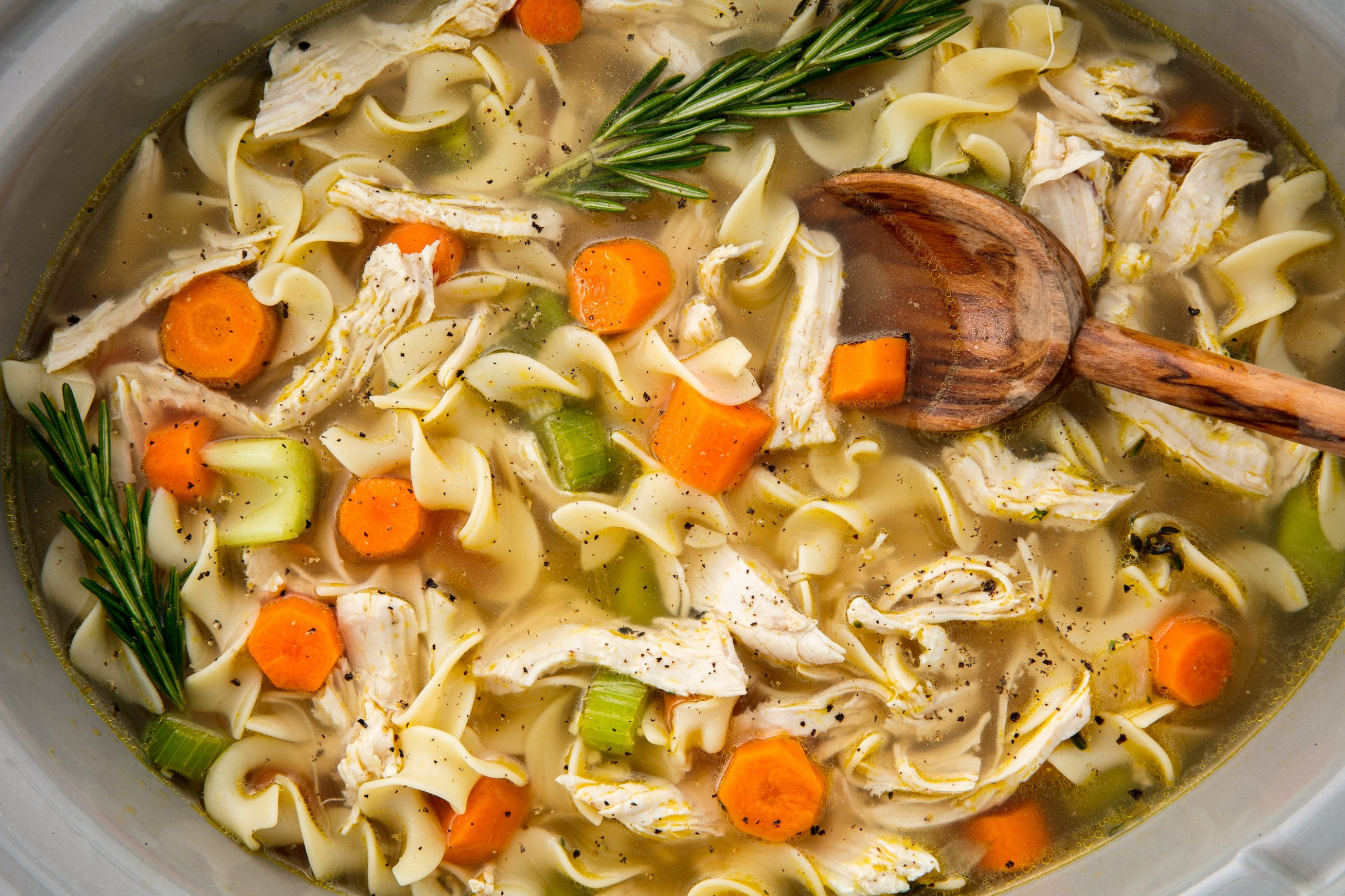 Slow Cooker Chicken Noodle Soup Will Warm Up Your Whole Crew - Zucchini Spiralizer Recipes Chicken