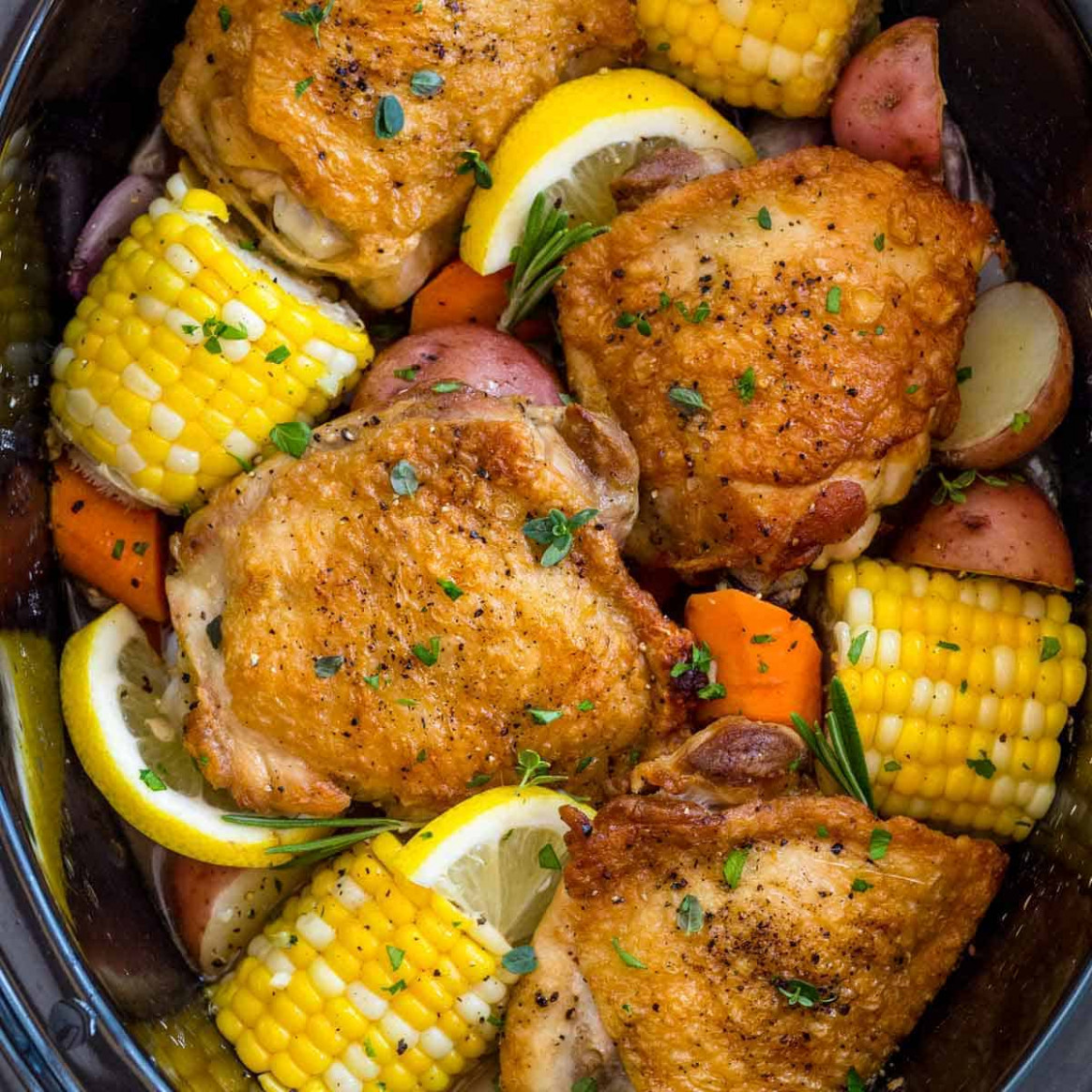 Slow Cooker Chicken Thighs - chicken recipes recipes