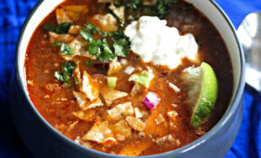 Slow Cooker Chicken Tortilla Soup With All The Fixings Recipe – Recipes Slow Cooker Chicken