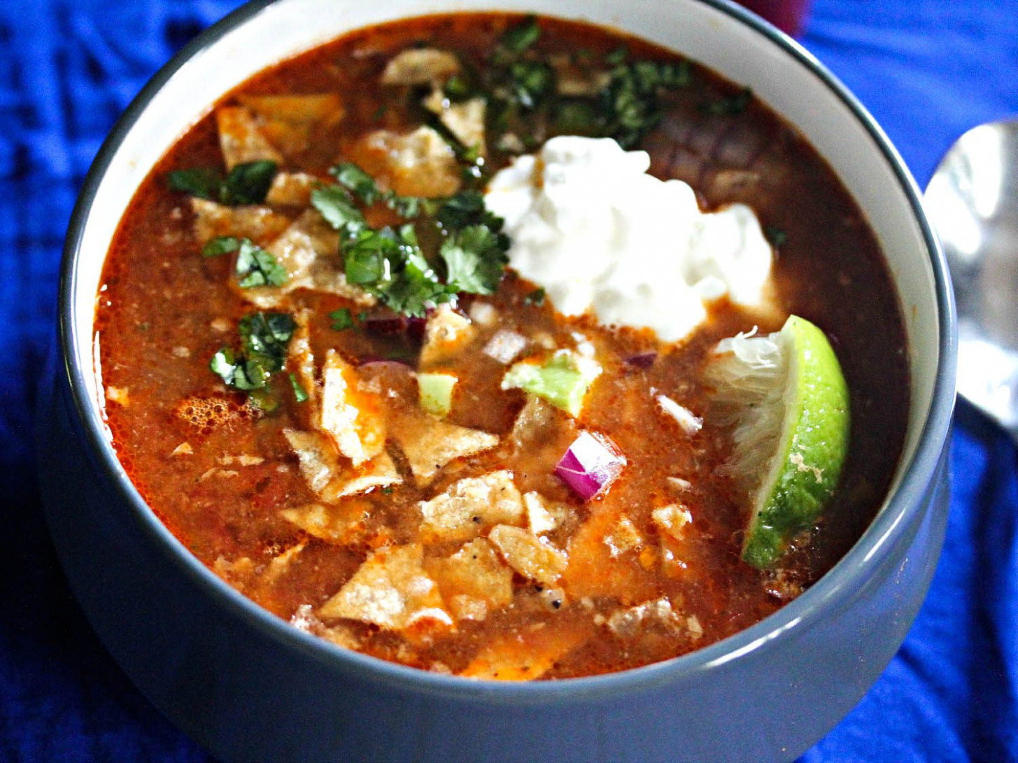 Slow-Cooker Chicken Tortilla Soup With All the Fixings Recipe - recipes slow cooker chicken