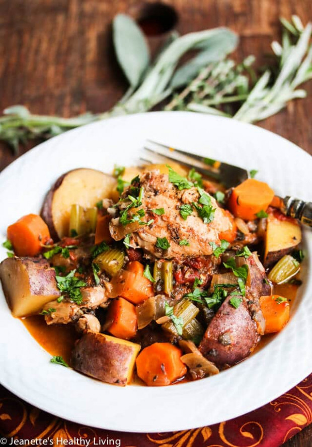 Slow Cooker Chicken Vegetable Stew Recipe - Jeanette's ..