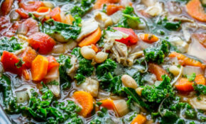 Slow Cooker Chicken, White Bean, And Kale Soup With ..