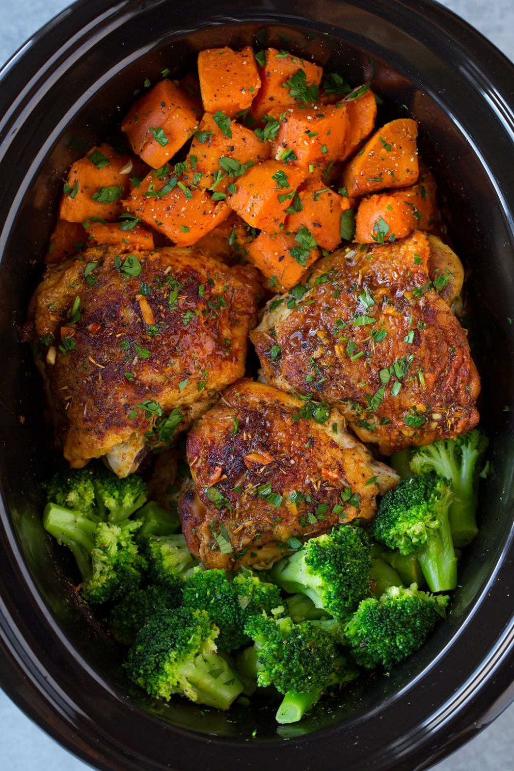 Slow Cooker Chicken with Sweet Potatoes and Broccoli ..