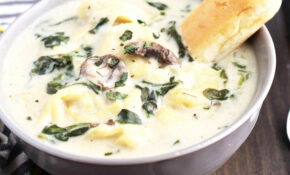 Slow Cooker Creamy Tortellini Spinach And Mushroom Soup – Recipes Vegetarian Crock Pot
