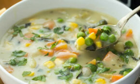Slow Cooker Creamy Vegetable Soup With RECIPE VIDEO – Vegetable Soup Recipes Vegetarian