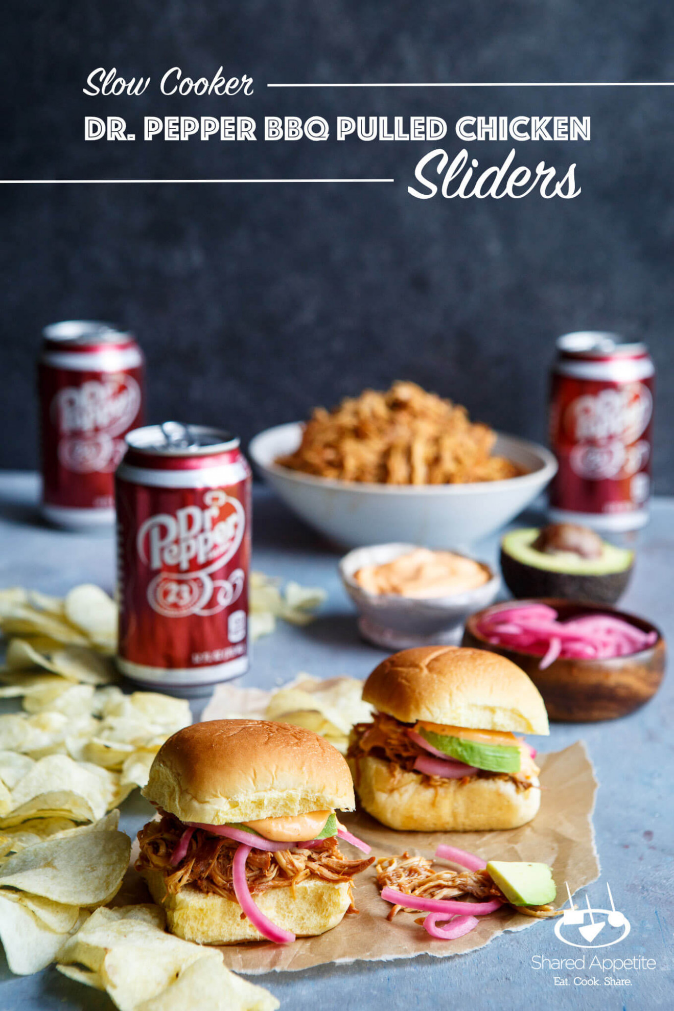 Slow Cooker Dr Pepper BBQ Pulled Chicken Sliders - Chicken Recipes Bbq
