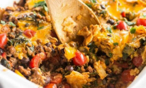 Slow Cooker Healthy Taco Casserole – Slow Cooker Gourmet – Healthy Recipes Ground Beef Casserole