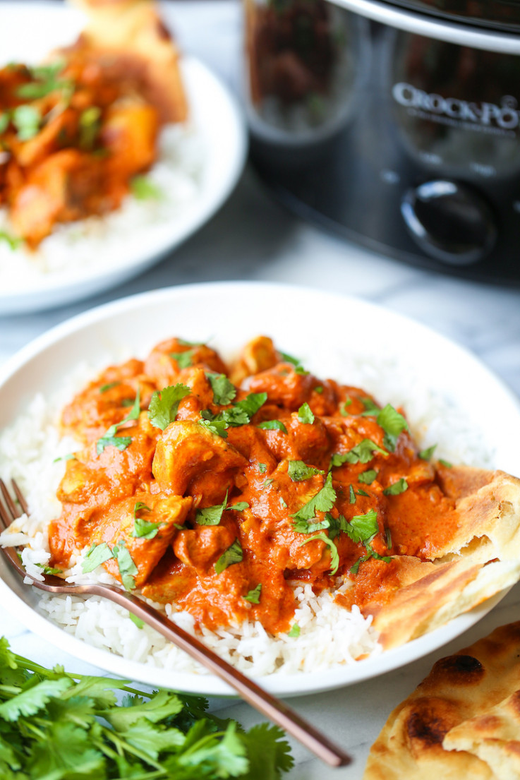 Slow Cooker Indian Butter Chicken - easy crock pot recipes chicken