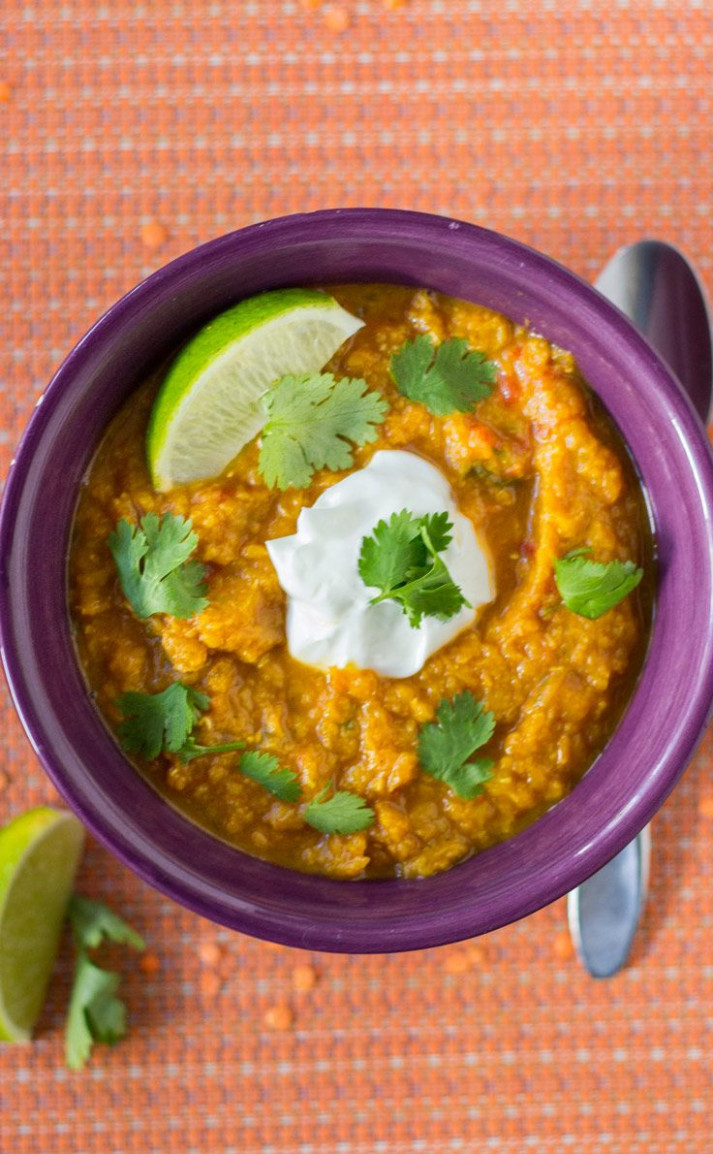 Slow Cooker Indian Butternut Squash and Red Lentil Curry ..