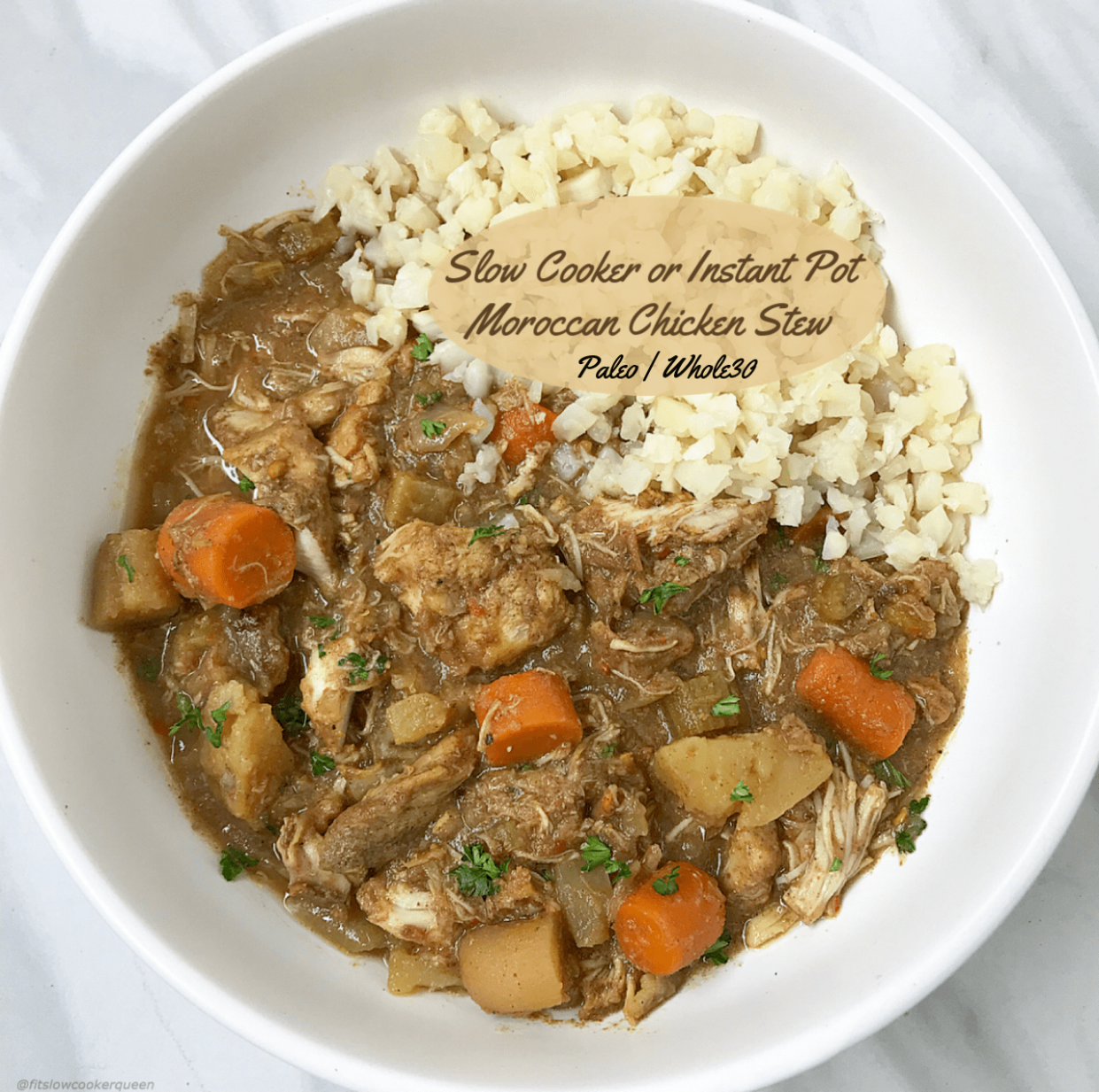Slow Cooker/Instant Pot Moroccan Chicken Stew (Paleo,Whole10) - Stew Recipes Chicken