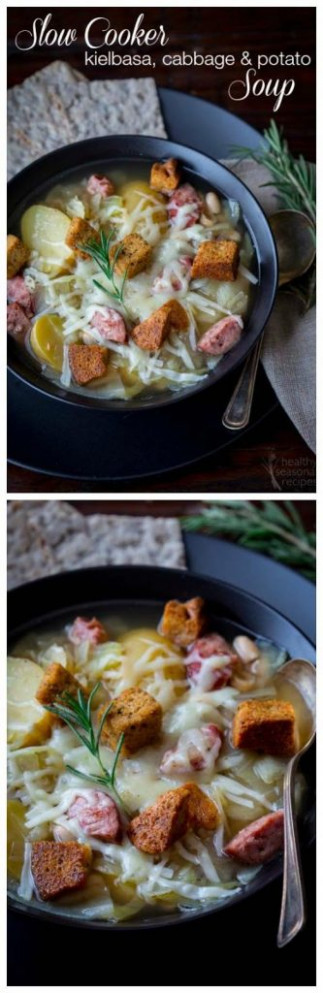 Slow Cooker Kielbasa, Cabbage, and Potato Soup from ..