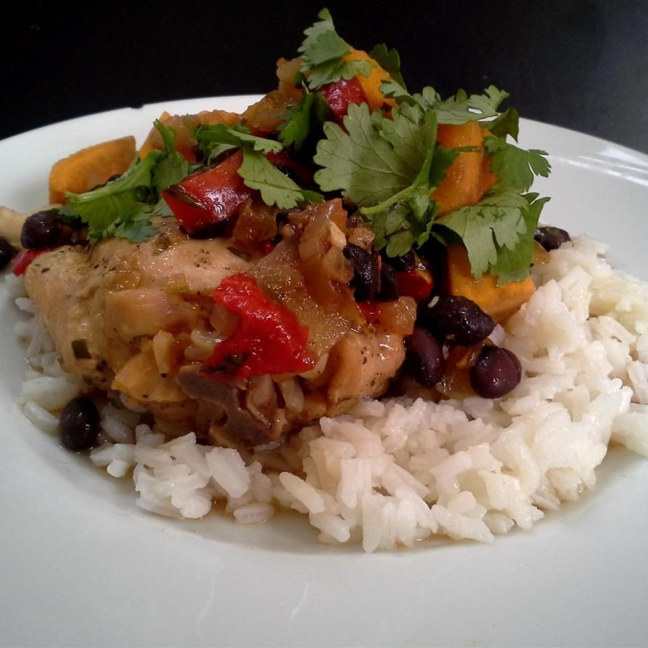 Slow Cooker Latin Chicken Recipe — Dishmaps - uk slow cooker recipes chicken