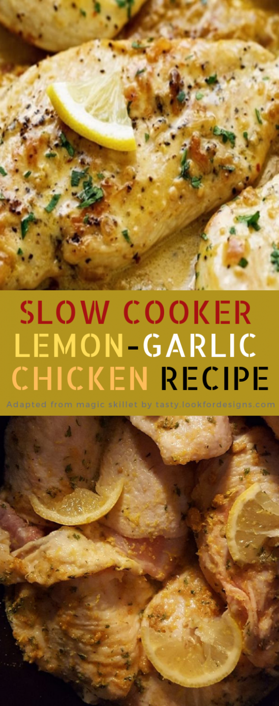 Slow Cooker Lemon-Garlic Chicken Recipe | Tasty Kitchens - chicken recipes tasty