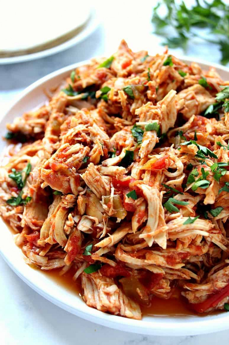 Slow Cooker Mexican Chicken Recipe - Crunchy Creamy Sweet - chicken recipes for slow cooker