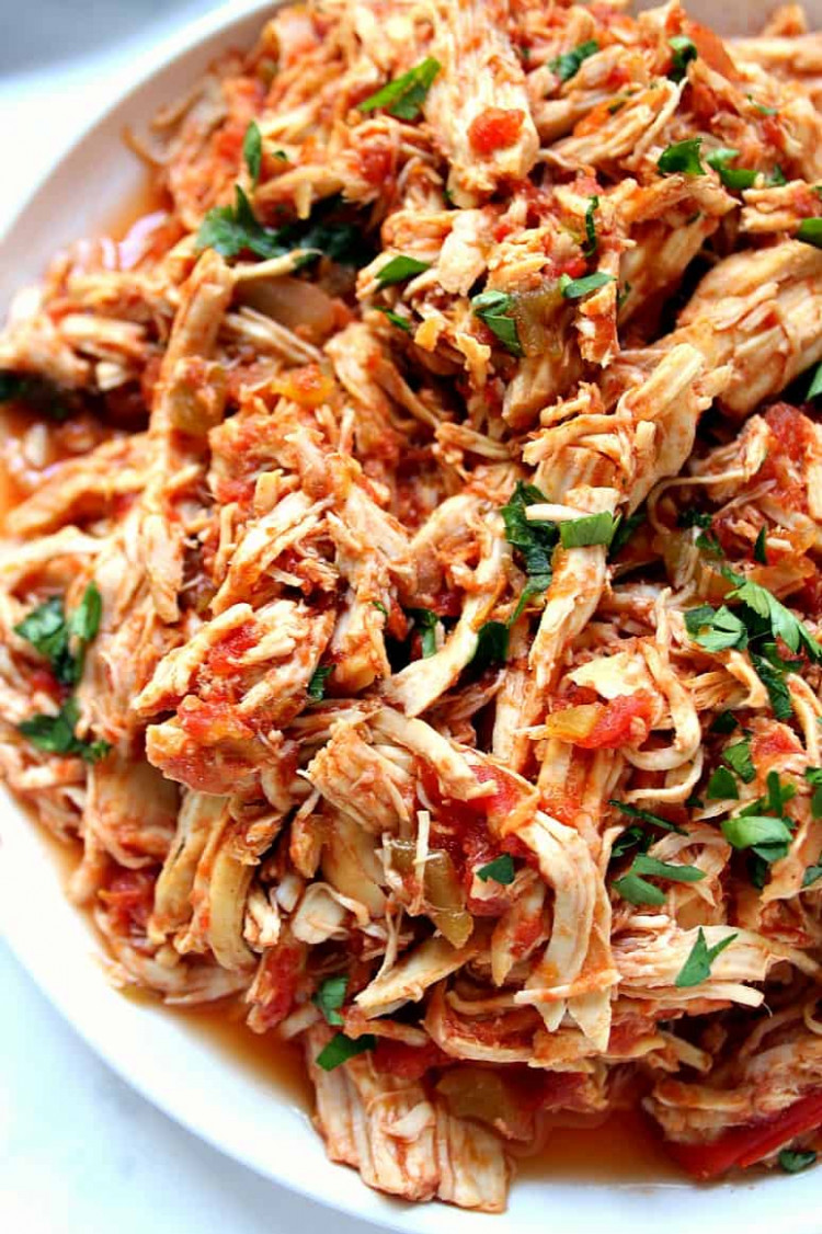 Slow Cooker Mexican Chicken Recipe - Crunchy Creamy Sweet - mexican recipes chicken