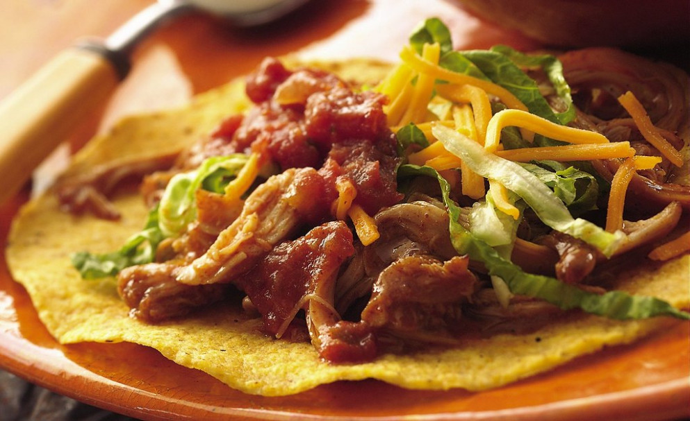 Slow Cooker Mexican Chicken Tostadas - chicken recipes slow cooker