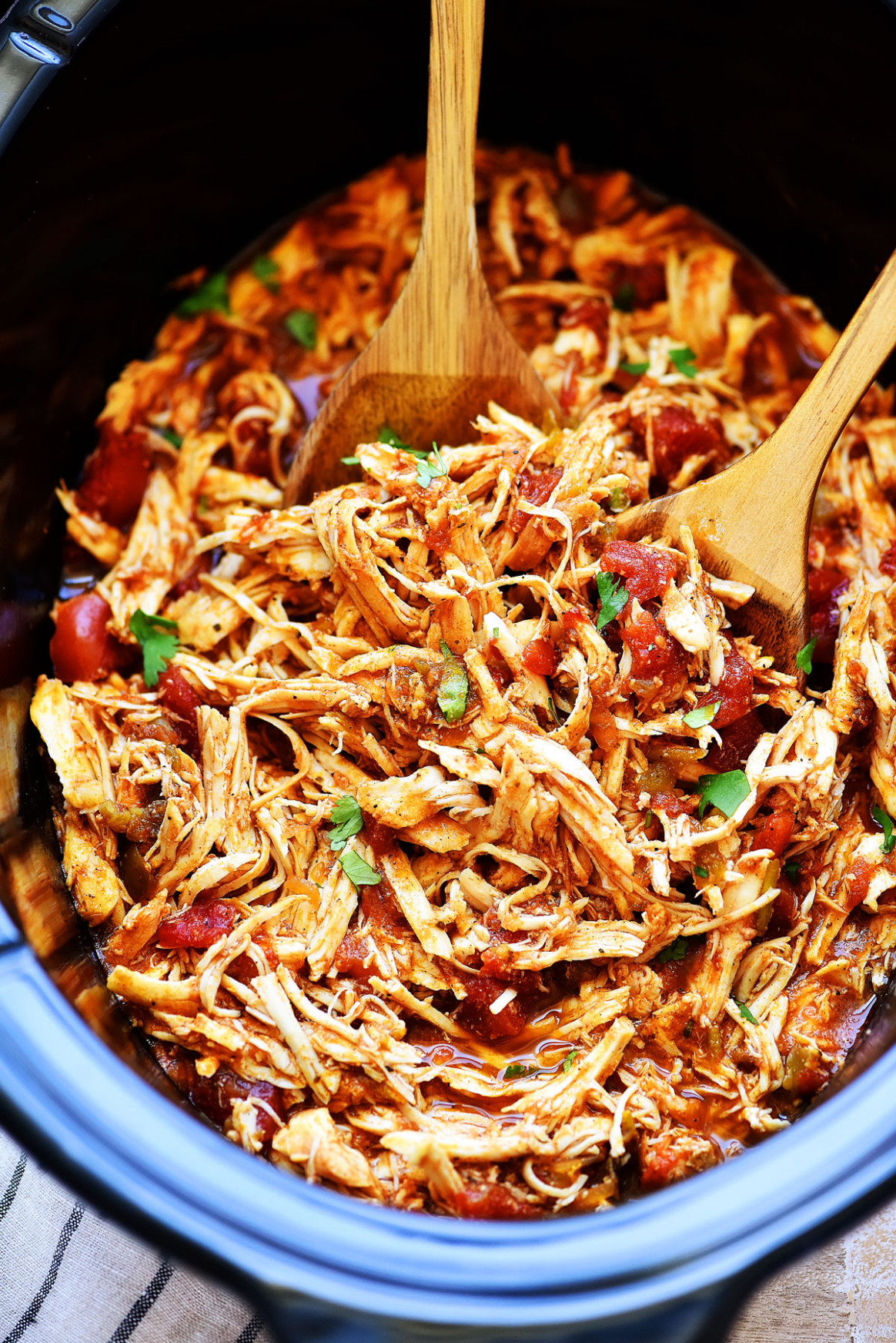 Slow Cooker Mexican Shredded Chicken - healthy chicken recipes in the crockpot