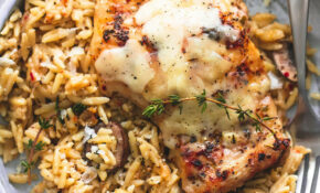 Slow Cooker Parmesan Herb Chicken & Orzo | Creme De La Crumb – Easy Slow Cooker Recipes Chicken