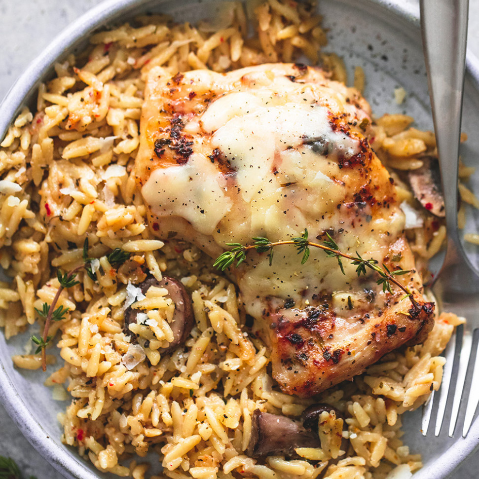 Slow Cooker Parmesan Herb Chicken & Orzo | Creme De La Crumb - easy slow cooker recipes chicken