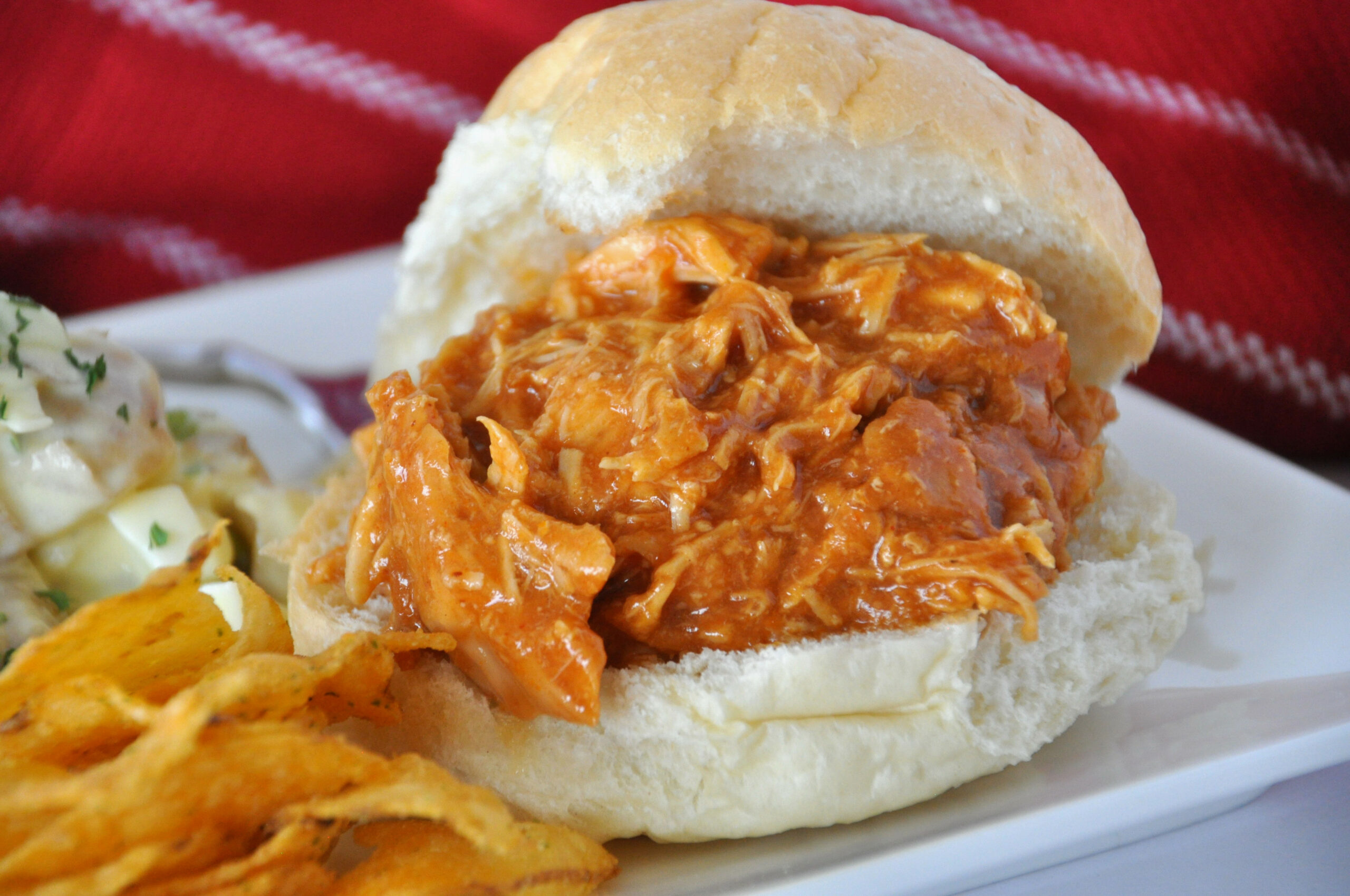 Slow Cooker Pulled Chicken Recipe - All Recipes UK - Uk Slow Cooker Recipes Chicken