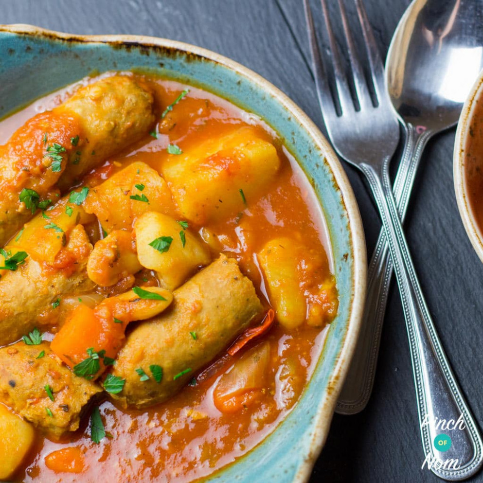 Slow Cooker Sausage Casserole | Slimming & Weight Watchers Friendly - recipes heck chicken sausages