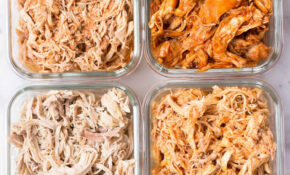 Slow Cooker Shredded Chicken Meal Prep • A Sweet Pea Chef – Recipes For Shredded Chicken