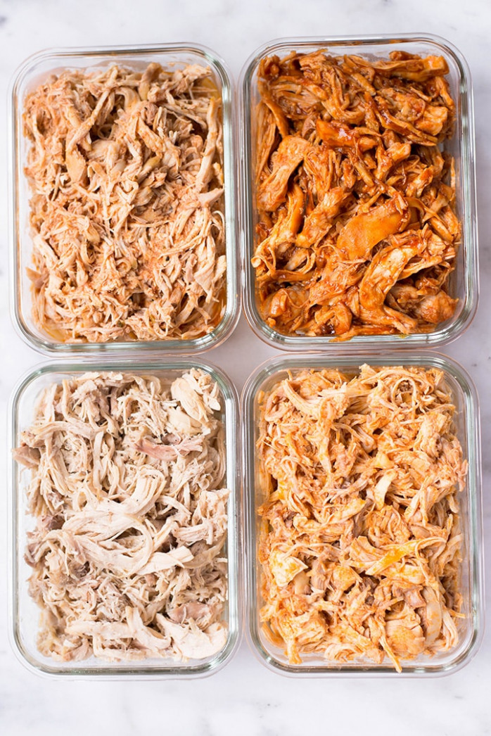 Slow Cooker Shredded Chicken Meal Prep • A Sweet Pea Chef - recipes for shredded chicken