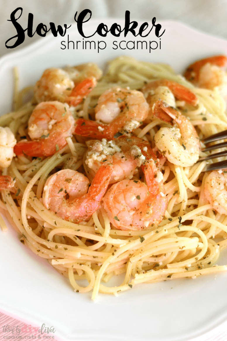 Slow Cooker Shrimp Scampi: Easy Crock Pot Dinner Recipe - recipes dinner crock pot