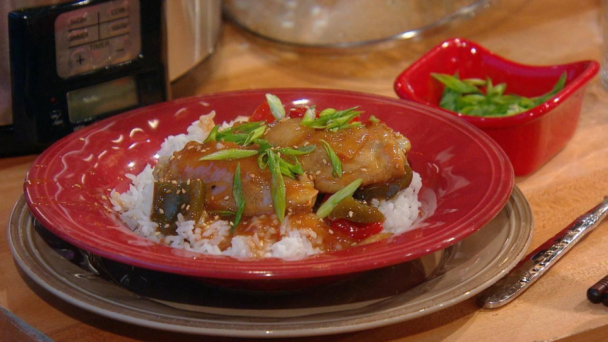 Slow-Cooker Sweet-and-Sour Chicken - valerie bertinelli recipes chicken thighs