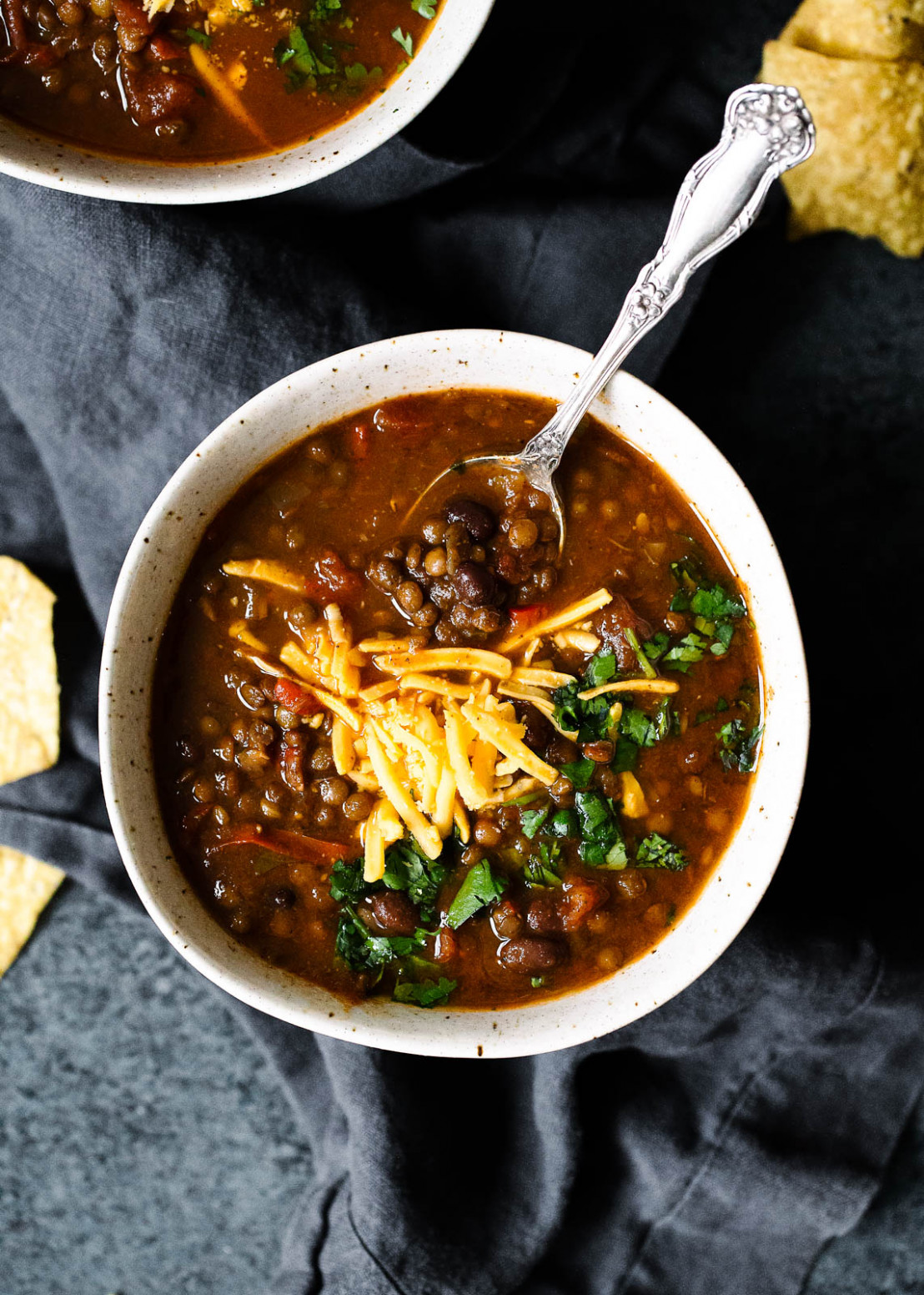 Slow Cooker Taco Lentil Soup | Ambitious Kitchen - easy soup recipes vegetarian