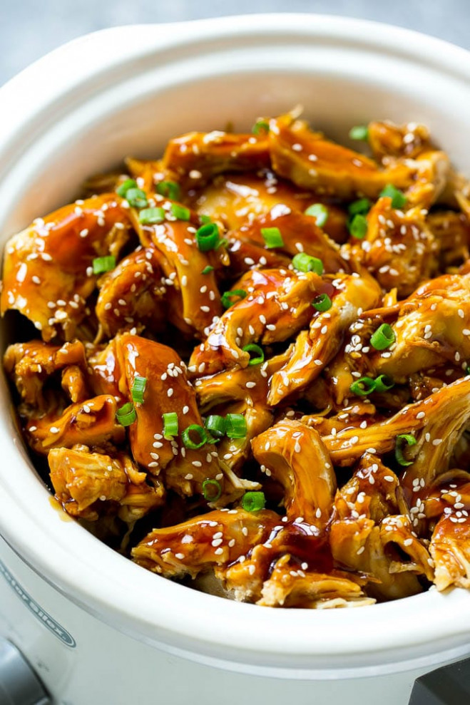 SLOW COOKER TERIYAKI CHICKEN - chicken recipes in slow cooker
