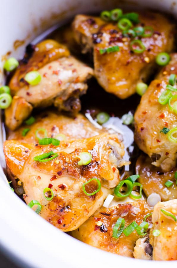 Slow Cooker Thai Chicken Thighs - iFOODreal - Healthy ..
