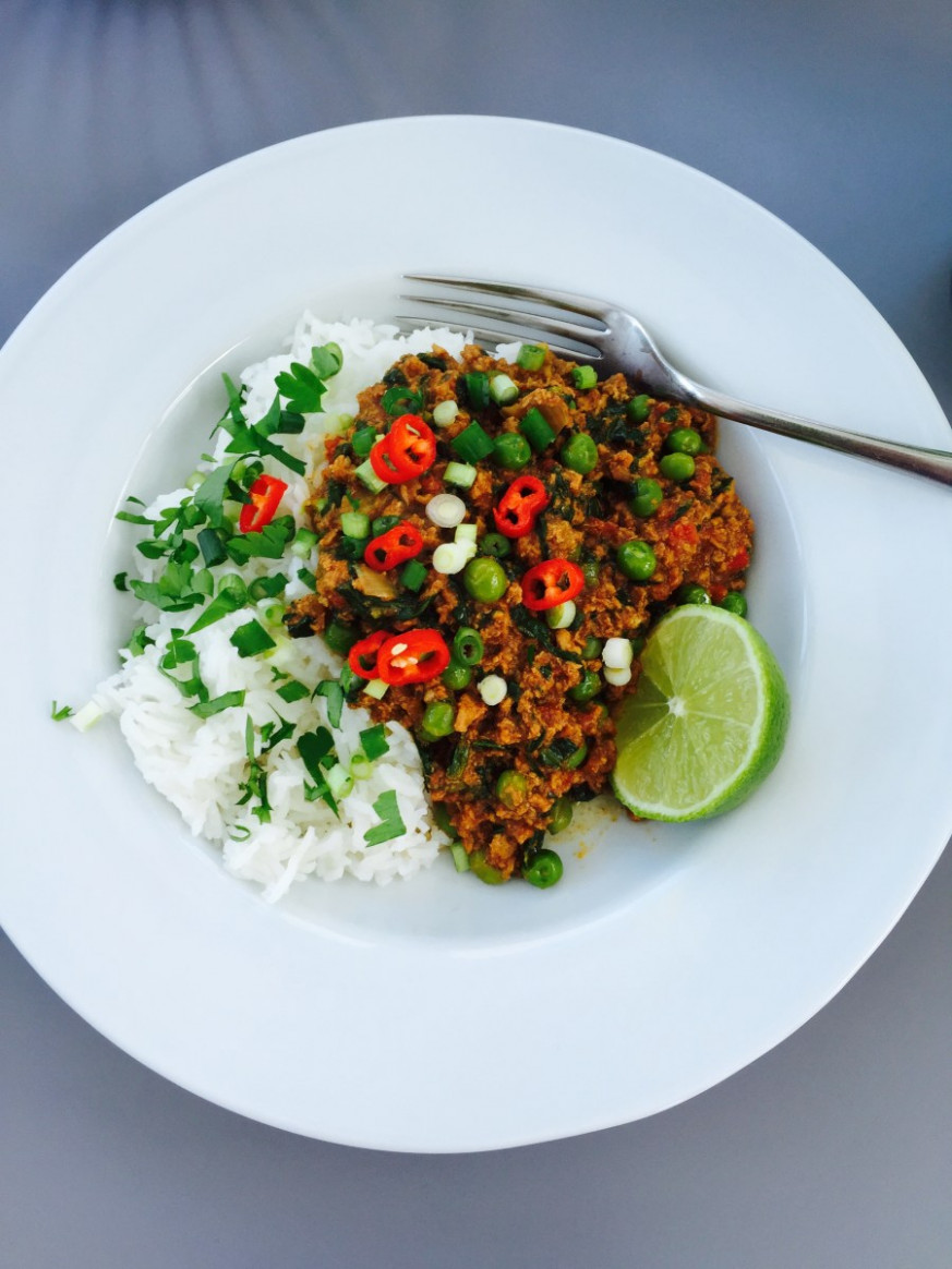 Slow cooker turkey keema | Daisies & Pie - vegetarian recipes you can add meat to