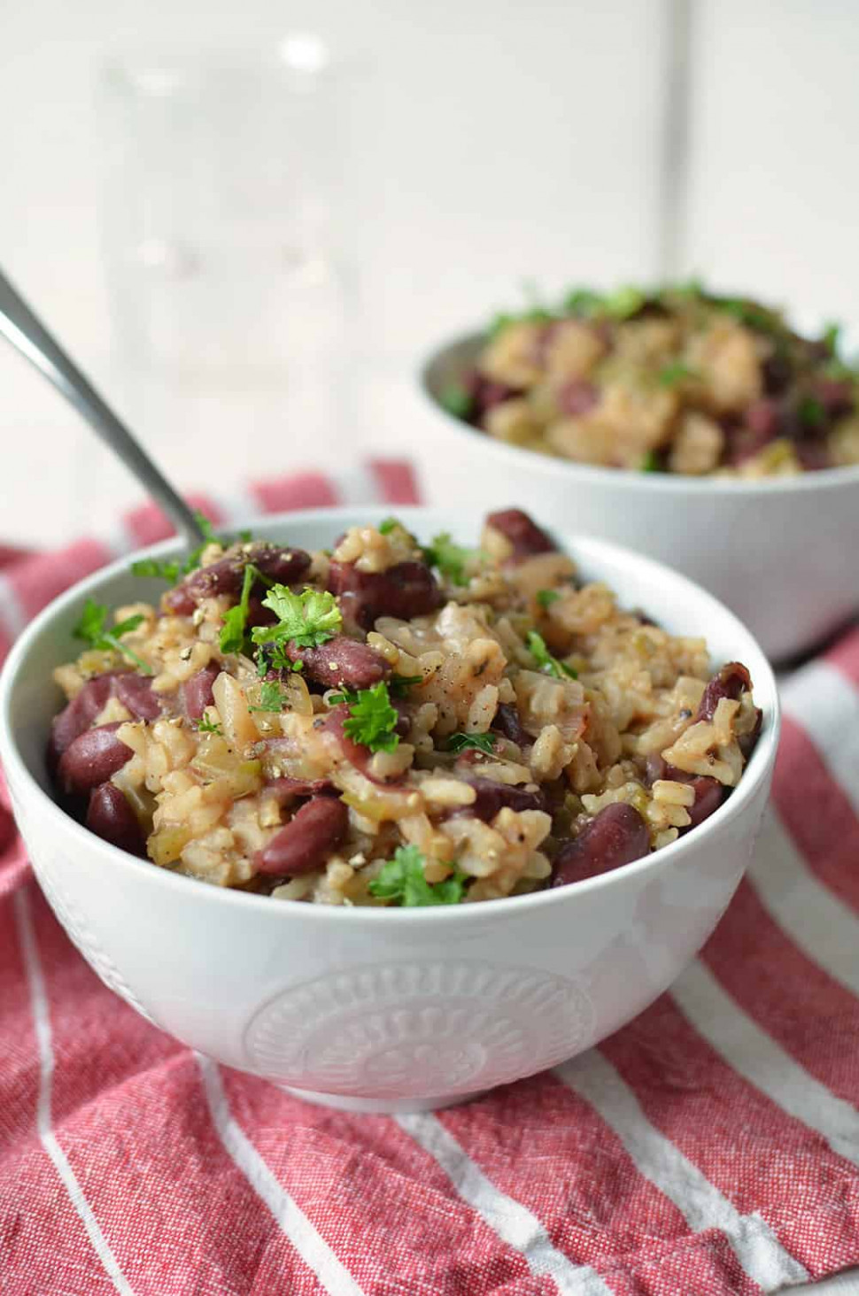 Slow Cooker Vegan Red Beans and Rice - vegetarian recipes in slow cooker