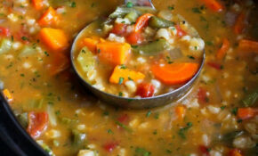Slow Cooker Vegetable Barley Soup Recipe…An Tasty Way To ..