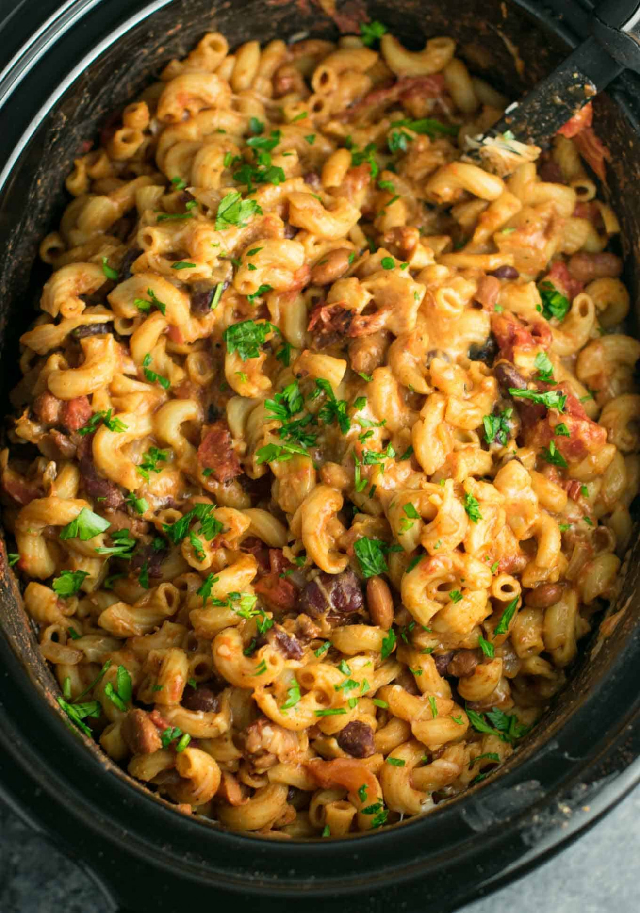 Slow Cooker Vegetarian Chili Mac Recipe - Build Your Bite - Slow Cooker Recipes Nz Vegetarian