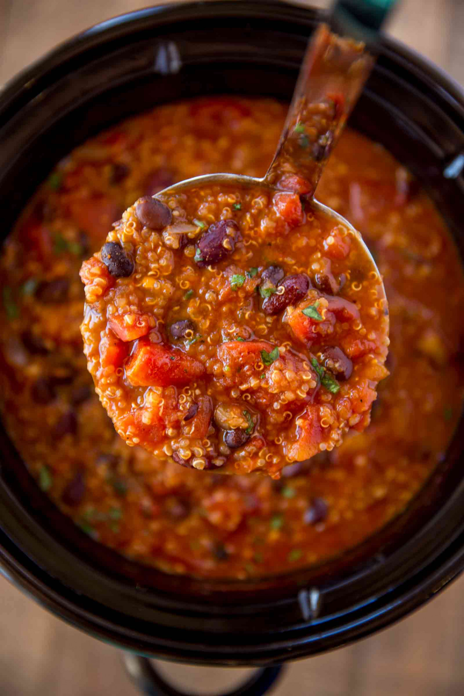 Slow Cooker Vegetarian Quinoa Chili - Recipes Crock Pot Vegetarian