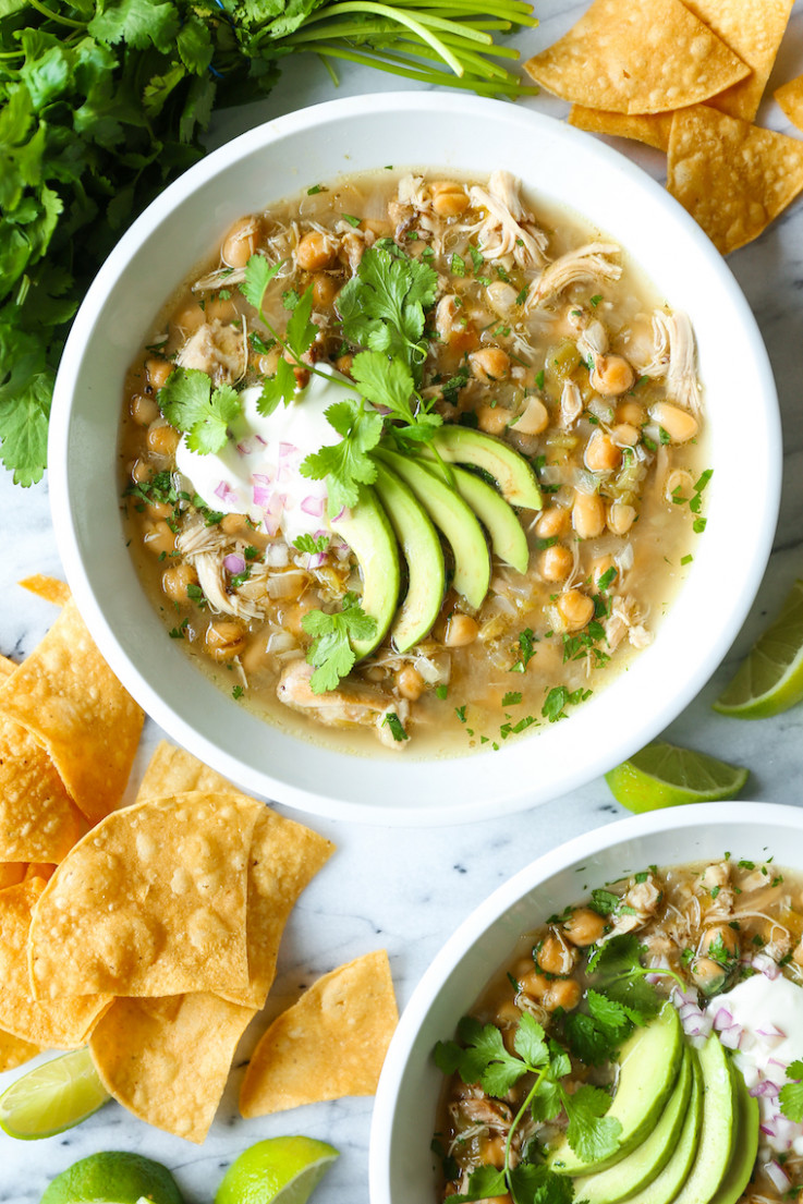 Slow Cooker White Chicken Chili - recipes in slow cooker chicken
