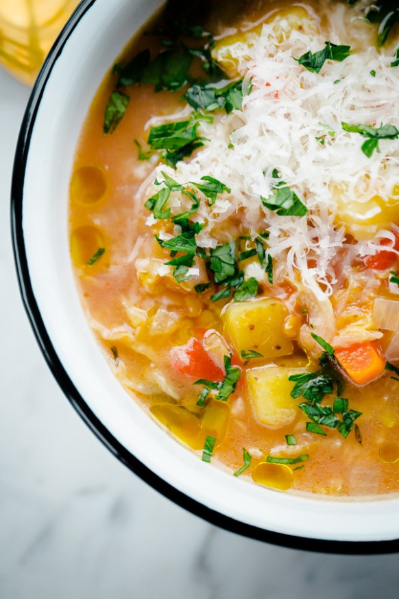 Slow Cooker Winter Vegetable Soup with Split Red Lentils ..
