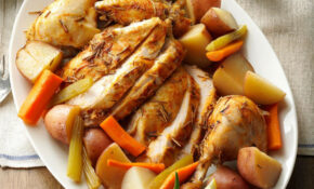 Slow Roasted Chicken With Vegetables Recipe | Taste Of Home – Chicken Recipes Vegetables