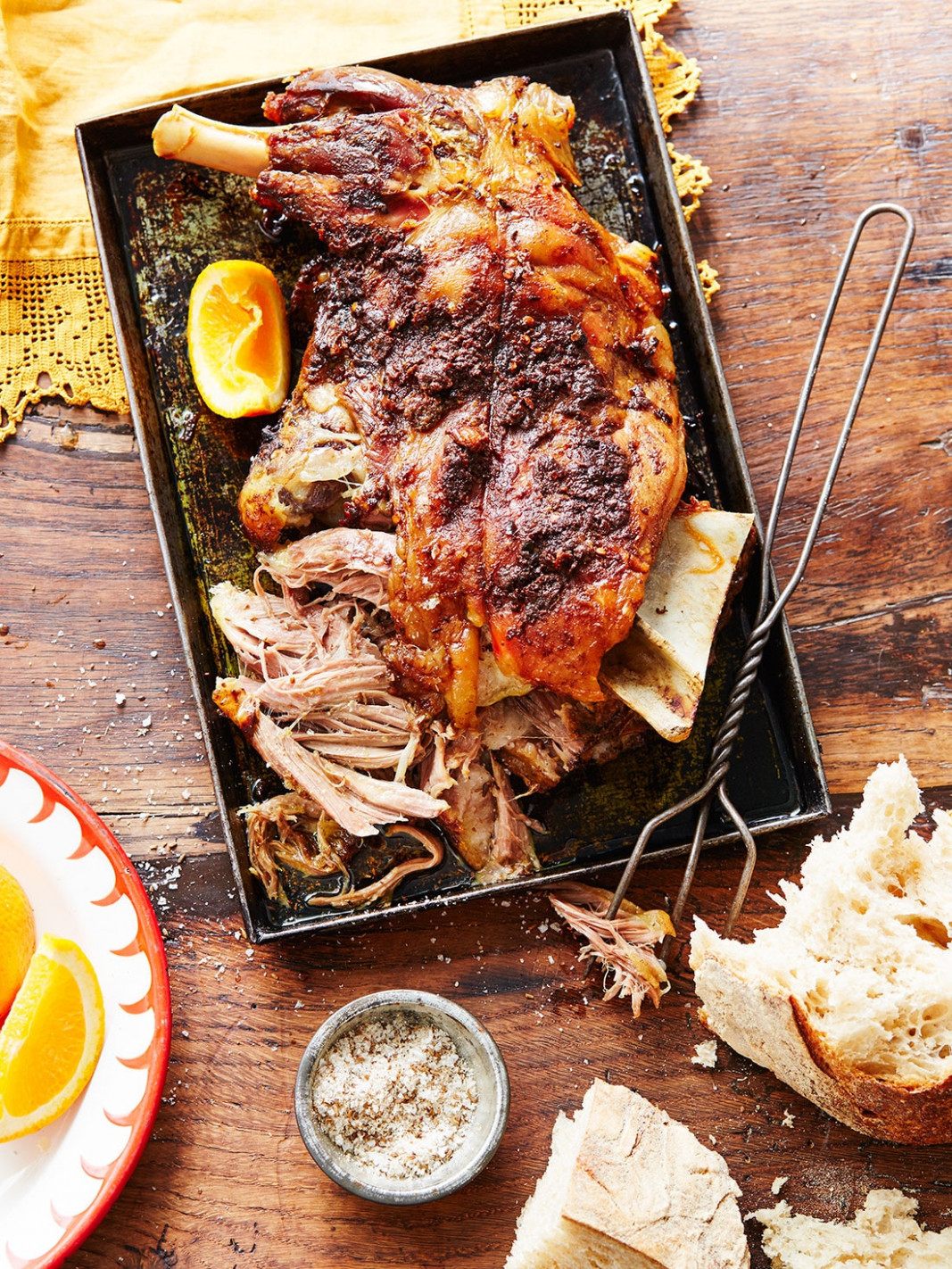 Slow-roasted lamb (mechoui) recipe : SBS Food - food recipes pictures