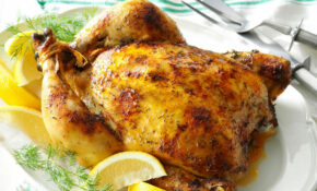 Slow Roasted Lemon Dill Chicken Recipe | Taste Of Home – Recipes Of Chicken