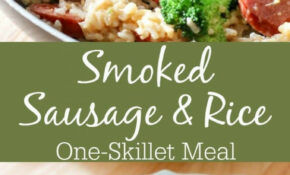 Smoked Sausage & Rice One Skillet Dinner