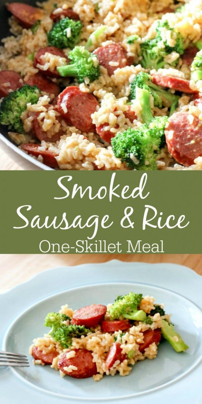 Smoked Sausage & Rice One Skillet Dinner - recipes rice dinner