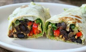 Smoky Black Beans, Parsley Chimichurri, Spinach Wraps