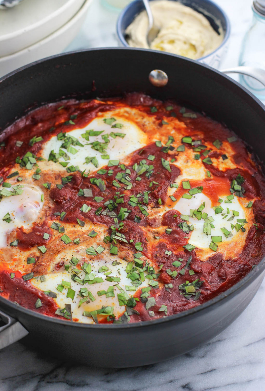 Smoky Shakshuka With Chorizo And Chickpeas - Chorizo Recipes Dinner