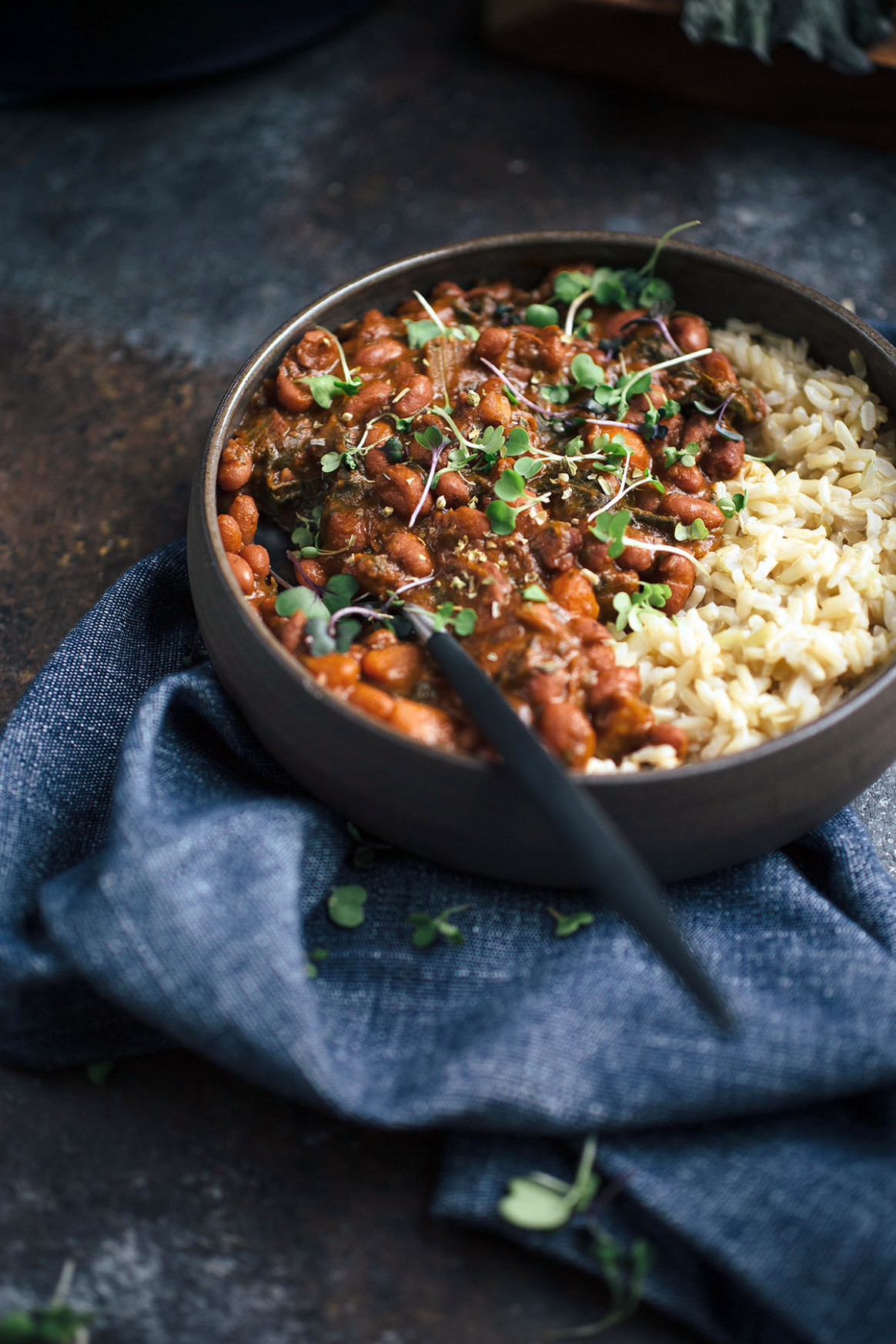 Smoky Vegetarian Red Beans and Rice - recipes beans vegetarian