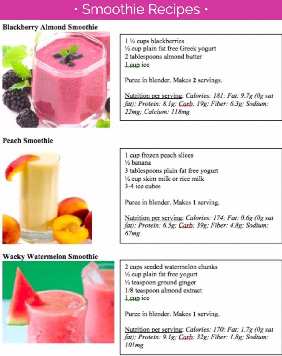 Smoothie recipes - Healthy fruit smoothie recipes # ..