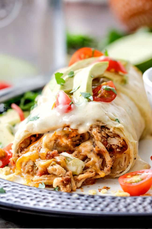 Smothered Baked Chicken Burritos - Carlsbad Cravings - Mexican Food Recipes With Pictures