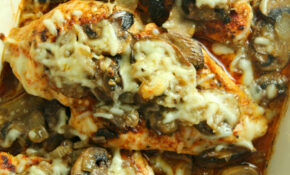 Smothered Cheesy Baked Chicken With Mushrooms (Low Carb) – Chicken Recipes With Mushrooms